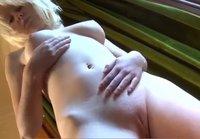 Liz shos her wet pussy