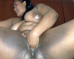 Latina bbw showing me her pussy